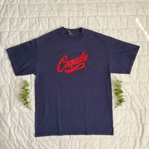 Other - Canada Red Velvet Script Spellout Tshirt